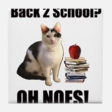 Lolcat Back to School Tile Coaster