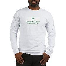 Choose Civility Logo Long Sleeve T-Shirt