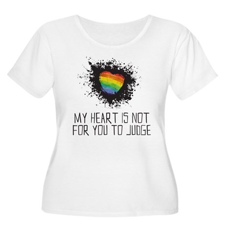 My Heart is Not for You to Judge Plus Size T-Shirt