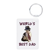 World's Best Dad Cat Keychains