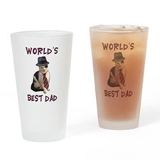 World's Best Dad Cat Drinking Glass