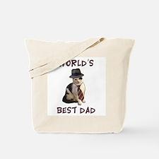 World's Best Dad Cat Tote Bag