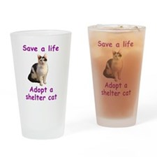 Shelter Cat Drinking Glass