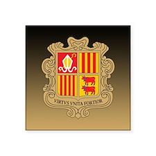 "Andorra Coat Of Arms Square Sticker 3"" x 3"""