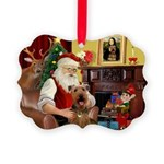 Santas Airedale Picture Ornament