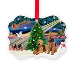 XmasMagic/Airedale Picture Ornament