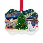 Xmas Magic & Akita Picture Ornament
