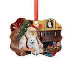 Santa's Eskimo Spitz Picture Ornament