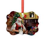 Santa's Aussie (Tri2) Picture Ornament