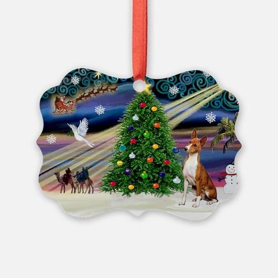 XmasMagic/Basenji #2 Ornament