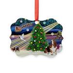 Xmas Magic - Basset Picture Ornament