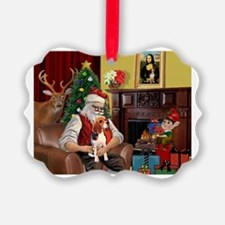 Santa's Beagle Ornament