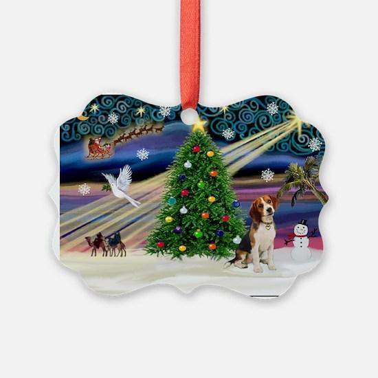 Xmas Magic & Beagle Ornament