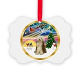 Collie christmas ornaments Picture Frame Ornaments