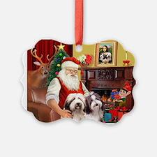 Santa's Beardie pair Ornament