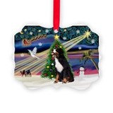 Bernese mountain dog christmas Picture Frame Ornaments