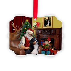Santa's Home & Bernese Ornament