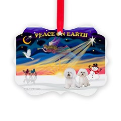 XmasSunrise/2 Bichons Ornament