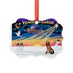XmasSunrise/Bloodhound Picture Ornament