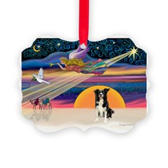 XmasStar/Border Collie #4 Ornament