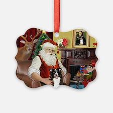 Santa's Border Collie Ornament