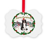 XmasMusic1MC/Border Collie Picture Ornament