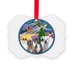Xmas Magic / 3 Boxers Picture Ornament