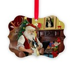 Santa's Boxer (#1) Picture Ornament