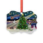 XmasMagic/Brittnany Spaniel Picture Ornament