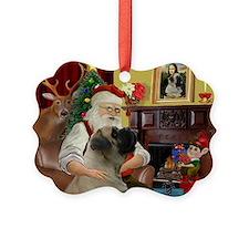 Santa's Bullmastiff #7 Ornament