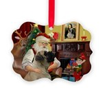 Santa's Bullmastiff #7 Picture Ornament