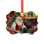 Santa's Bull Mastiff Picture Ornament