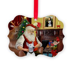 Santa's Bull Terrier Ornament