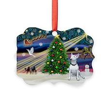 XmasMagic/ Bull Terrier Ornament