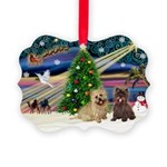 Xmas Magic & 2 Cairns Picture Ornament