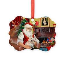 Santa's Cairn Terrier Ornament