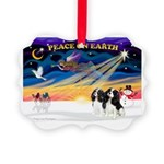 XmasSunrise/2 Cavaliers Picture Ornament