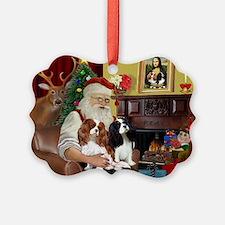Santa's 2 Cavaliers Ornament