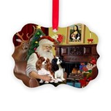 Cavalier king charles spaniel christmas Picture Frame Ornaments