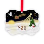 Night Flight/3 Chihuahuas Picture Ornament