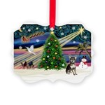 Xmas Magic & Chihuahua Picture Ornament