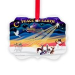 XmasSunrise/4 Cresteds Picture Ornament