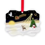 Night Flight/C Crested #9 Picture Ornament