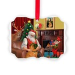 Santa's Shar Pei Picture Ornament