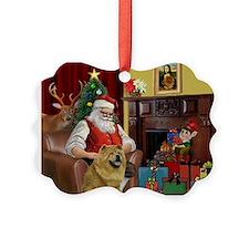 Santa's Chow Chow Ornament