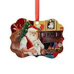 Santa's Coton Picture Ornament
