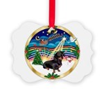 XmasMusic 3/Dachshund 17 Picture Ornament