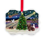 XmasMagic/Dachshund (WH) Picture Ornament