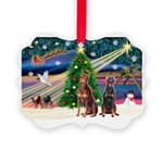 XmasMagic/ 2 Dobies Picture Ornament