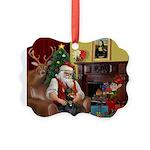 Santa's Dobie (Bz) Picture Ornament